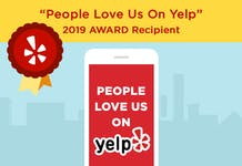 people love us on yelp 2019 award