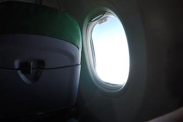 Plane window from inside