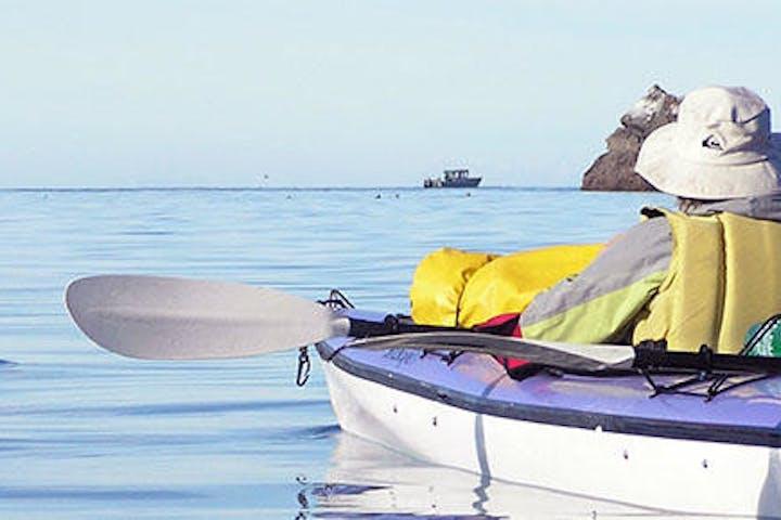 man kayaking in Homer