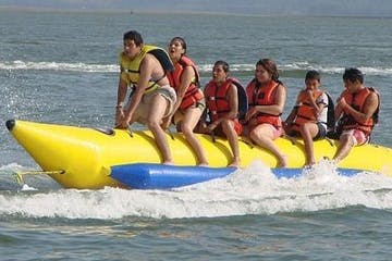 group on banana boat ride