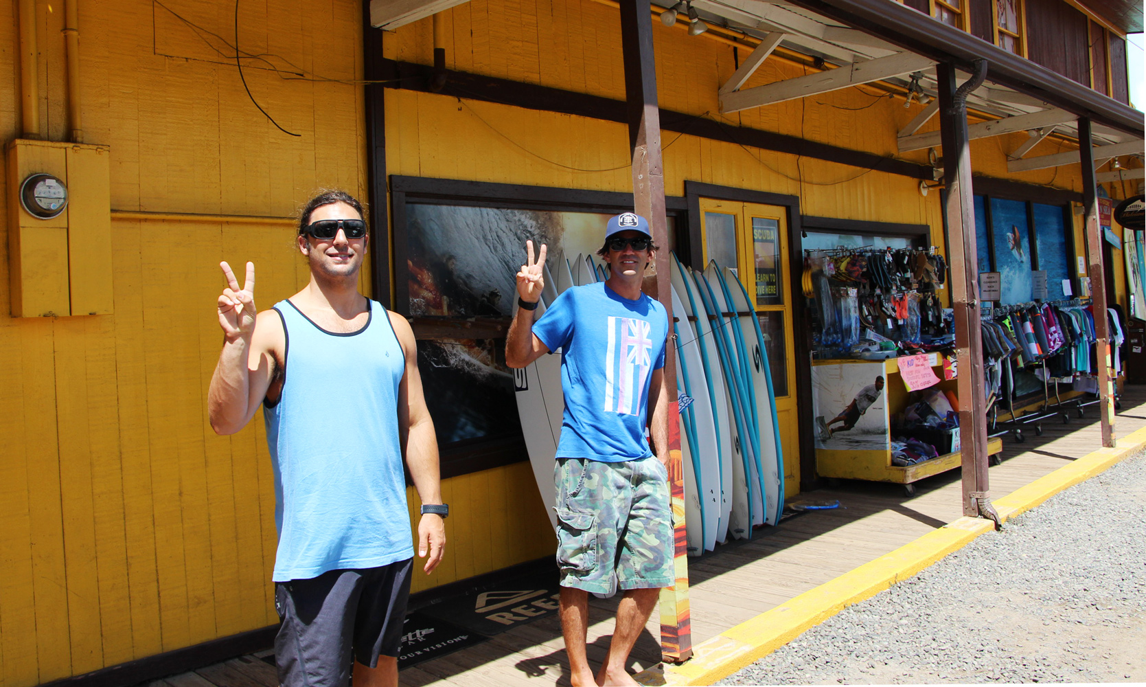 Colton Cruse and Mauricio Abreu at Surf N Sea