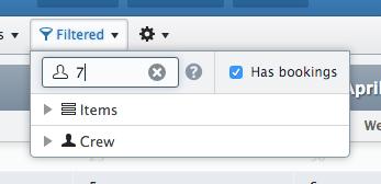 New filter menu