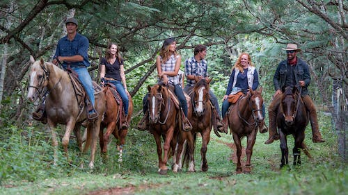 Oahu horseback riding tour on Gunstock Ranch