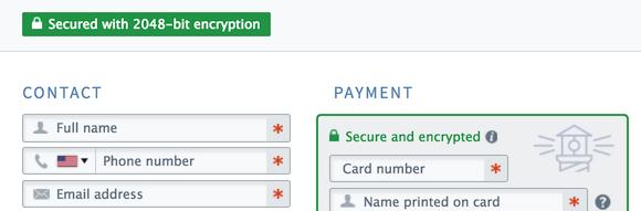 FareHarbor secure booking form