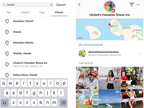 location tag searches
