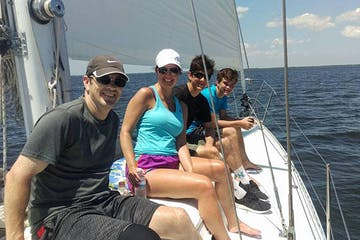 family fun on the sail boat