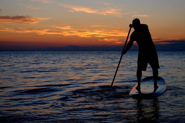SUP Paddle during Sunset