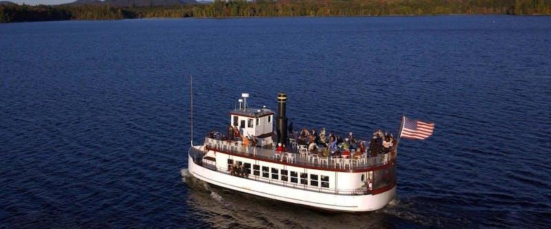 Tour boat on lake