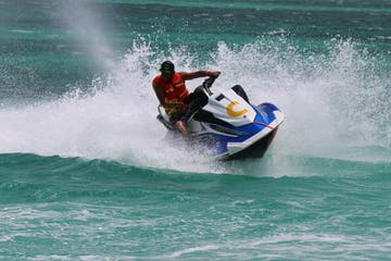 Waverunner making a sharp turn