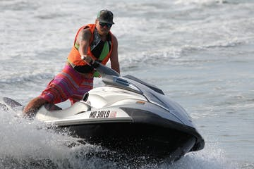 Our client enjoying our most popular offering - our jet ski rentals