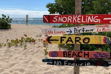 cardona island sign