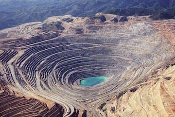 Kennecott Copper Mine aerial view