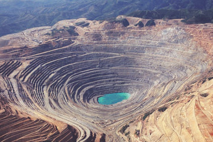 Kennecott Copper Mine aerial view