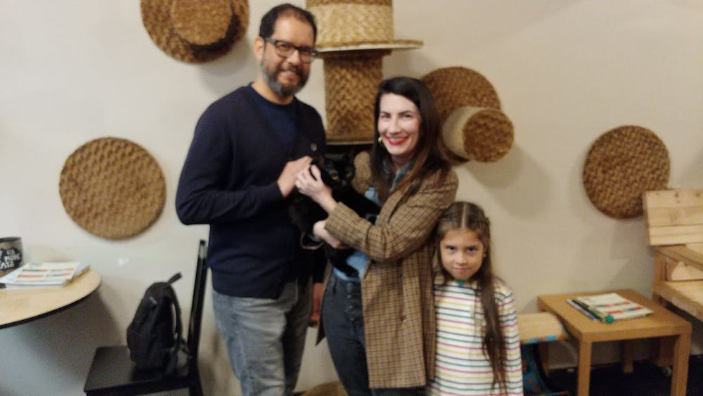 Rhiannon was adopted at The Cat Cafe
