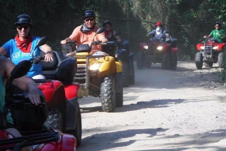 ATV's on dirt road