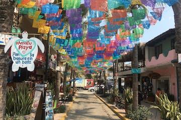 Sayulita San Pancho beach town alley