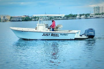 Just reel boat on the water