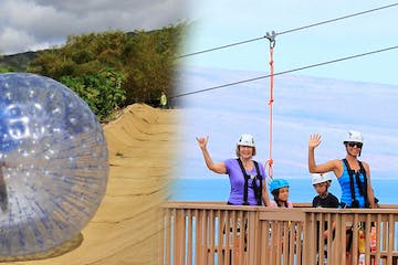 aquaball and zipline adventure combo photo