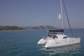 catamaran sailing on the water