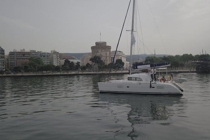 Catamaran sailing in Thessaloniki