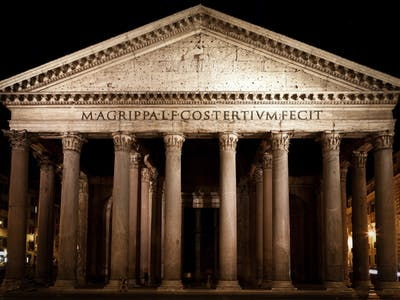 pantheon in the night