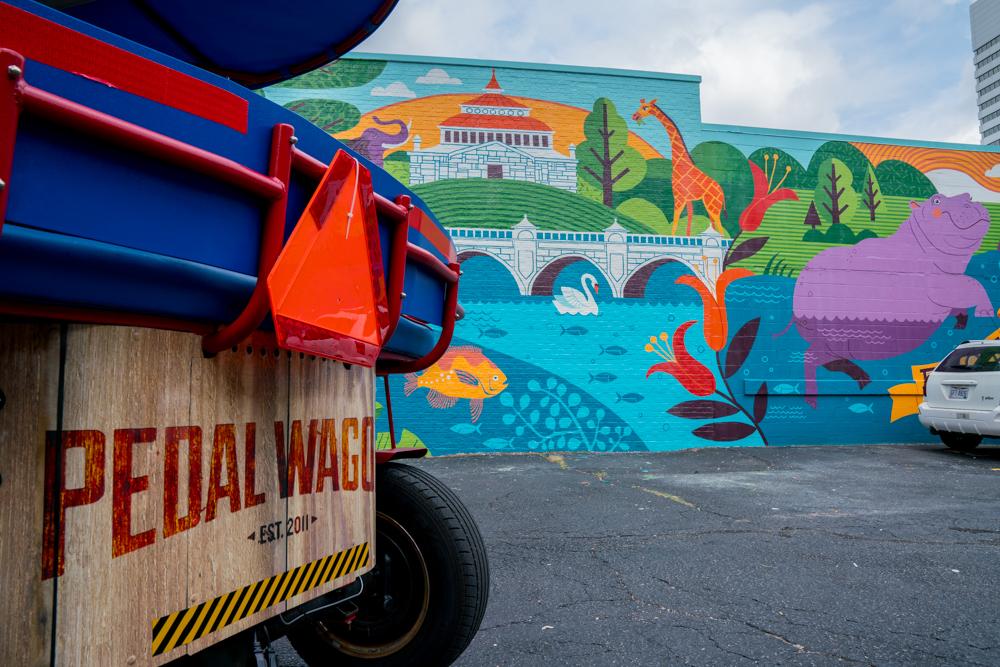 Cincinnati Gift Ideas_Pedal Wagon Cincinnati Mural Cruise Gift Card