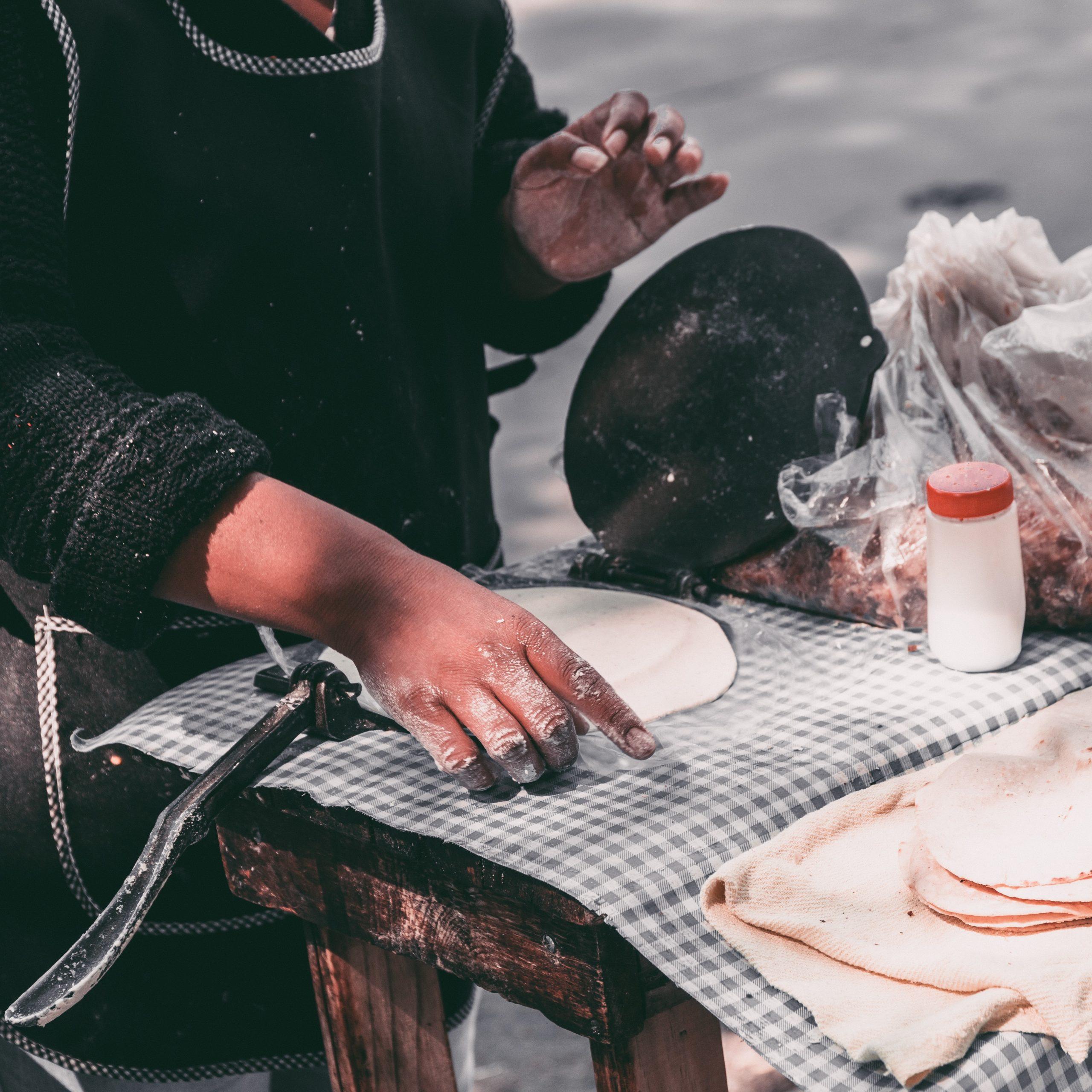 Street food tortillas