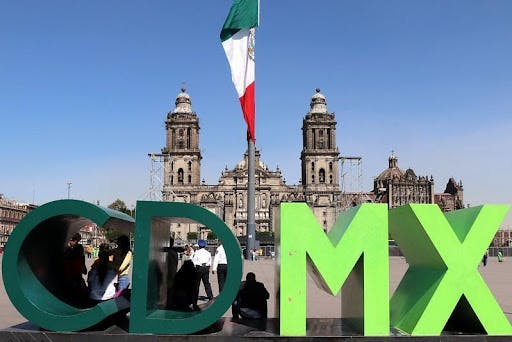 Green Mexico City Sign