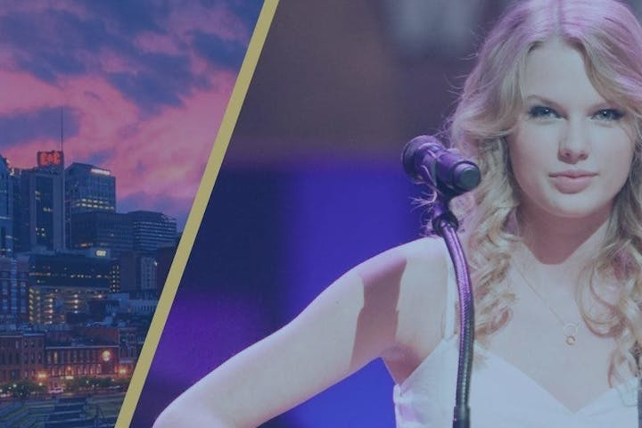 Taylor Swift and downtown nashville