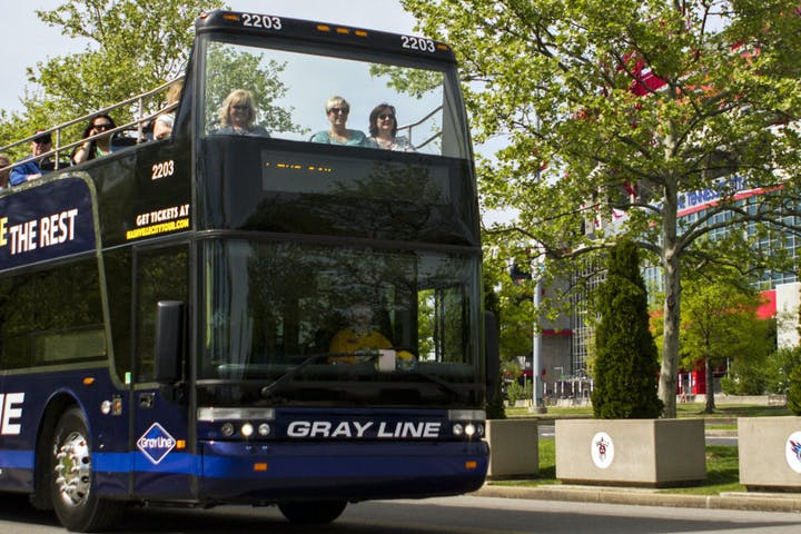 Gray Line sightseeing tour bus