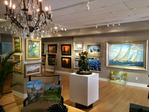 Interior of art gallery in Sarasota, FL