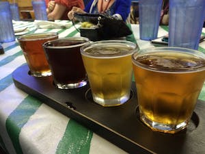 Beer samples at Surf Shack in Sarasota, FL