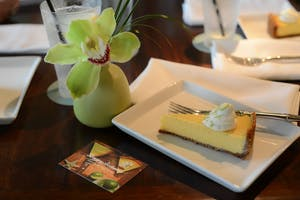 A slice of Key Lime pie at Tommy Bahama in St. Armands Circle, FL