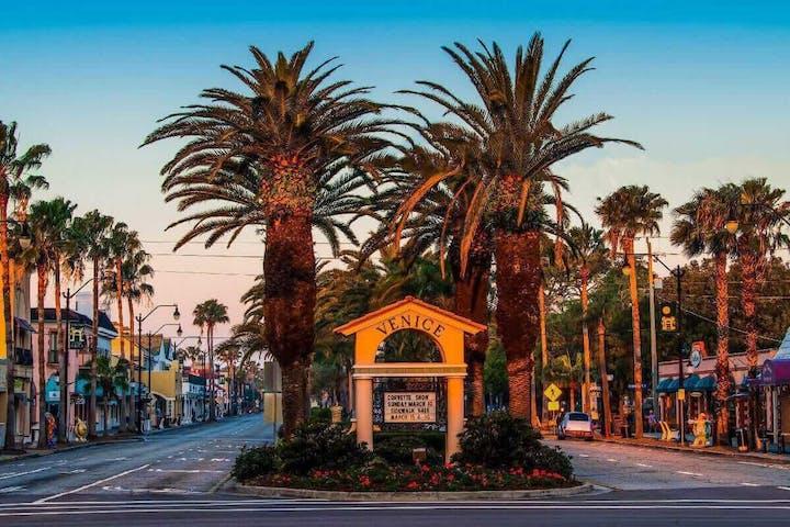 Main street of Venice, FL
