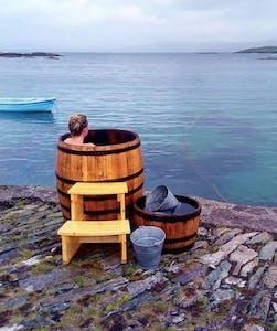 Seaweed baths beside the ocean