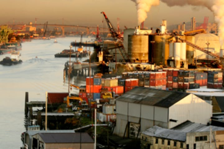 Industrial buildings on the Duwamish river