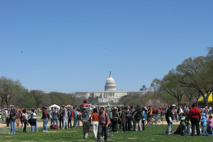 People hanging out in Washington DC