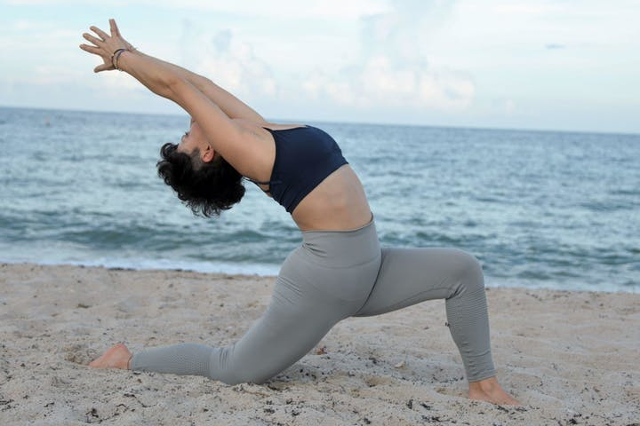 private yoga on beach