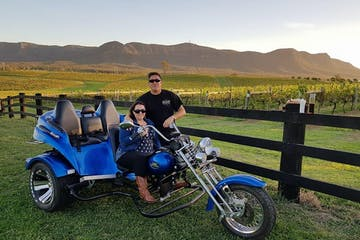 couple on a motorbike