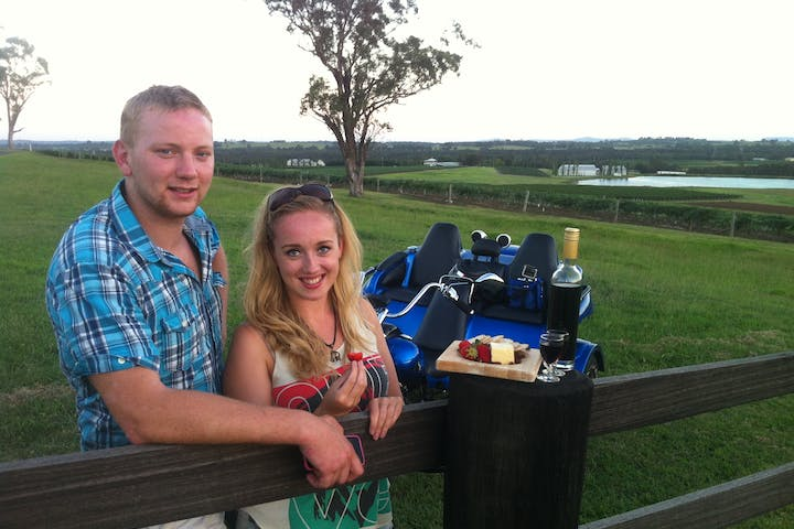 couple on a winery farm