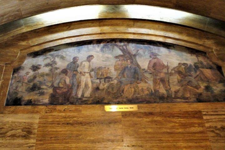 painting of Houston historic figures
