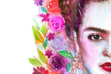 Frida Kahlo wearing a costume
