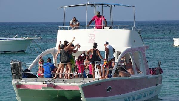 people dancing on boat