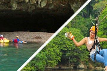 cave tubing and zipline
