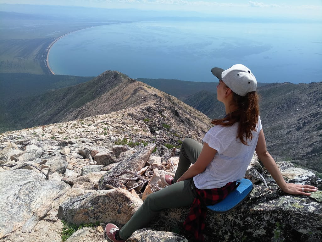 Top view from lake Baikal