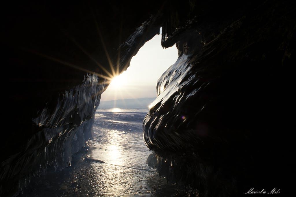 ice caves on Baikal