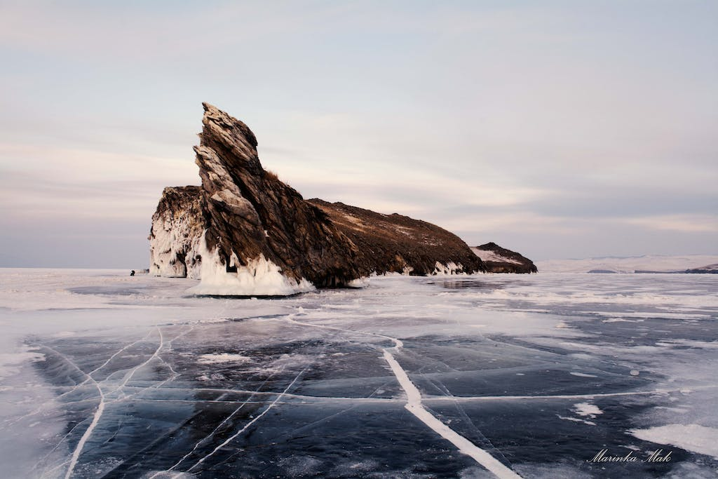 thickness of the Baikal ice is incredible