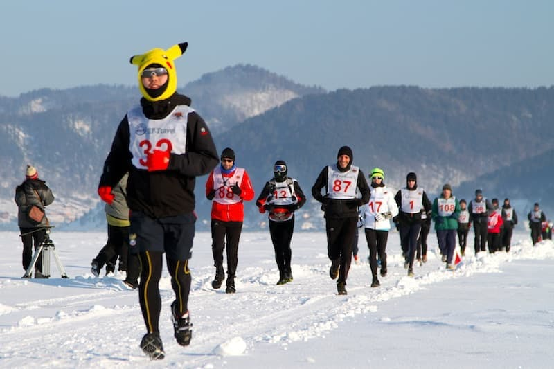 "The foot race across Lake Baikal was indicated as ""Most extreme marathon"" by Daily & Sunday EXPRESS"
