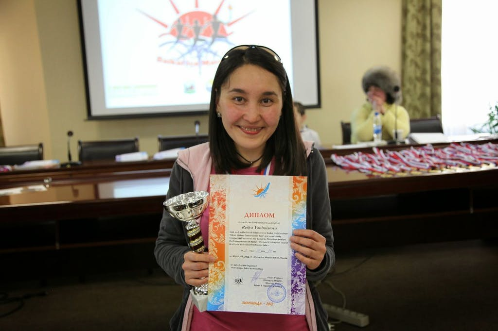 Urban Adventures guide Reilya was a competitor of Baikal Ice Marathon