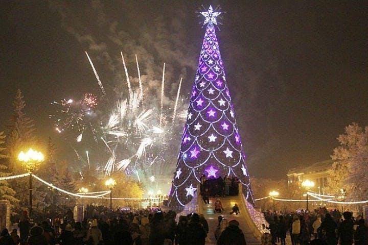 Christmas tree in Irkutsk